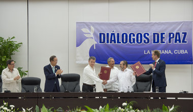 Ceremony for Colombian Ceasefire Agreement, Havana
