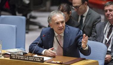 Jean Arnault, jefe de la Misión de la ONU en Colombia en el Consejo de Seguridad.