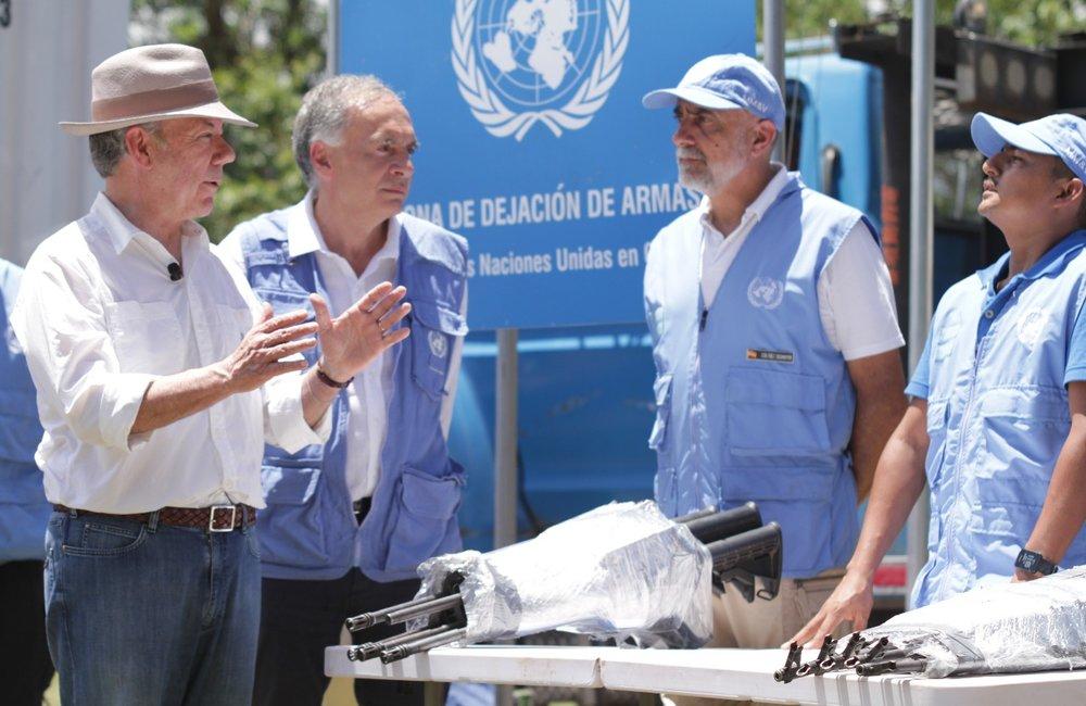 Evento finalización extracción armamento de los campamentos de las FARC-EP, en Pondores La Guajira
