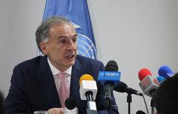 Jean Arnault, jefe de la Misión de la ONU en Colombia. Foto: CINU Bogotá